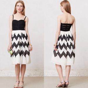 Anthropologie Chevron Dress (Black and White)